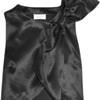 Isa Arfen - Bow-embellished wool and silk-blend top
