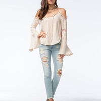 OTHERS FOLLOW Womens Cold Shoulder Top | Blouses