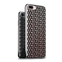 BLACK QUEEN PATTERN 3D COOL DESIGN ON CLEAR CHROME/SILVER CASE FOR IPHONE 8/7
