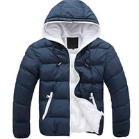 BONJEAN 2017 new Brand winter Jacket for men hooded coats casual mens thick coat male slim casual cotton padded down outerwear