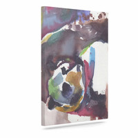 "Rebecca Bender ""Grizzly Bear Watercolor"" Abstract Animal Canvas Art"