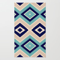 navajo blue Rug by SpinL