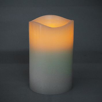 Flameless Frosted Candle LED Light, Ivory, 5-Inch x 3-Inch