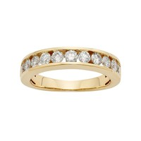 IGL Certified Diamond Wedding Ring in 14k Gold (1 Carat T.W.) (White)