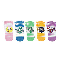 Sailor Moon Scout Symbols Striped No-Show Socks 5 Pair