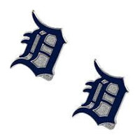 MLB Detroit Tigers Old English Post Earrings