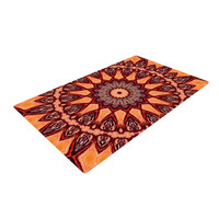 "Iris Lehnhardt ""Colors of Africa"" Brown Orange Woven Area Rug"
