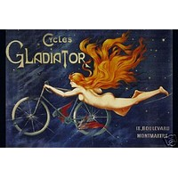 Cycles Gladiator Vintage Ad Poster