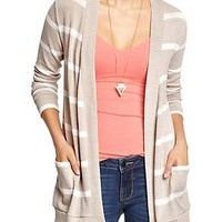 Women's Striped Open-Front Cardis