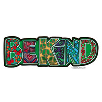 Be Kind Window Sticker on Sale for $3.99 at HippieShop.com