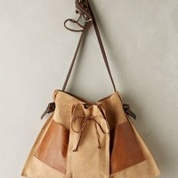 Pinch-Pleat Messenger Bag by Specialty Dry Goods Beige One Size Jewelry