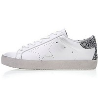 Womens Golden Goose Uomo Donna Superstar Sneakers White Silver Brownsneaker