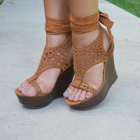 Dream Come True Wedges - Camel