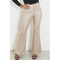 Lucky Charm Gold Shimmery Pants