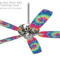 Tie Dye Swirl 104 - Ceiling Fan Skin Kit fits most 42 inch fans (FAN and BLADES SOLD SEPARATELY)