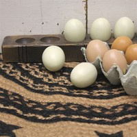 Treenware Egg Holder with Eggs