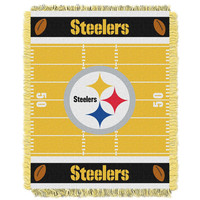 Pittsburgh Steelers NFL Triple Woven Jacquard Throw (Field Baby Series) (36x48)