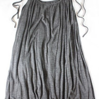 """~~~ SUCH A MUST ~~~ NWT $265 JENNI KAYNE GRAY """"TIE"""" SHOULDER STRAP TANK TOP - XS"""