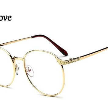 Eyesilove classic women metal reading glasses big round lenses shape reading eyeglasses +100 +125 +150 +200 +250 +300 +400 +600