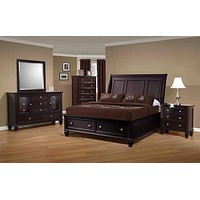 G201993 - Sandy Beach Cappuccino Bedroom Set - Storage Sleigh Bed or Panel Bed