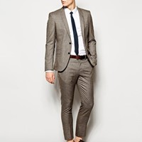 Selected Check Suit Jacket In Skinny Fit