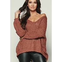 Pumpkin Muffins Knitted Top (Brick)