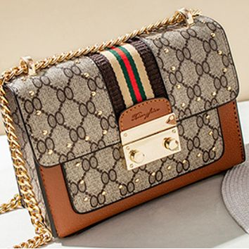 New fashion all-match small square messenger texture chain bag