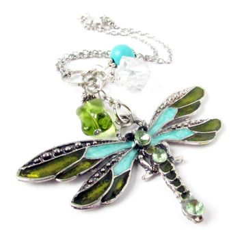 Dragonfly Rearview Mirror Charm