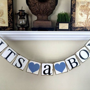 It's a Boy banner/ Baby Shower / Baby Shower Decorations / Baby Announcements / Baby Photo Prop