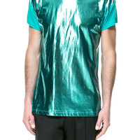 METALLIC T-SHIRT ZARA United States