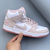 Air Jordan 1 Mid Digital Pink Women's High-Top Sneakers Shoes