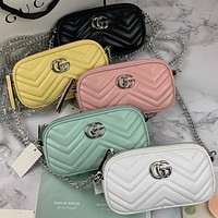 Gucci fashion versatile mini bag single shoulder crossbody bag chain mobile phone bag