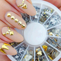 200 Piece Metallic Nail Decoration Wheel