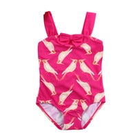 New 2017 Summer Swimsuit For Girls One-Piece Cartoon Swimsuit Children's Swimwear Baby Girls Bathing Suits Clothes K1-CGR1