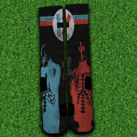 Twenty one pilots Socks,Custom socks,Personalized socks,Elite socks