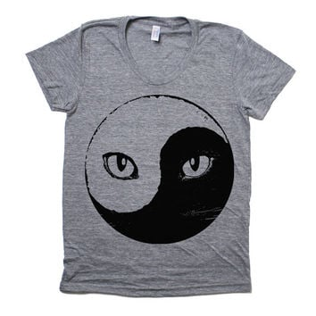 Ying Yang Kitty Cat T-Shirt