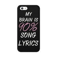 Cool Brain Song Music Cute Funny Quote iPhone 5|5S Case