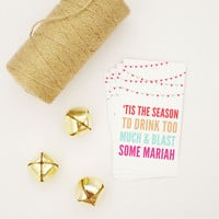 Tis the Season Mariah Gift Tag (Set of 4)