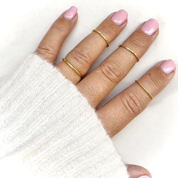 Keep It Simple Gold Ring Set