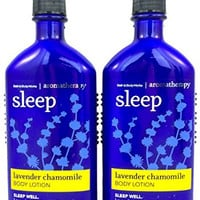 Bath Body Works Aromatherapy Sleep Lavender Chamomile 6.5 oz Body Lotion - 2 PACK