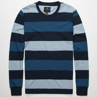 Shouthouse Block Stripe Mens Thermal Blue  In Sizes