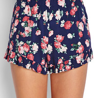 Floral Flare Ruffle Shorts
