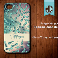 Personalized iPhone Case - Plastic or Silicone Rubber Monogram iPhone 4 4S Case Cover - K008