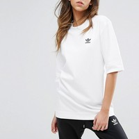 adidas Originals White Boyfriend Fit T-Shirt at asos.com