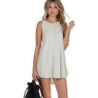 Ivory Swing In Your Step Striped Tunic