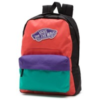 Vans Colorblock Realm Backpack (Fusion Coral)