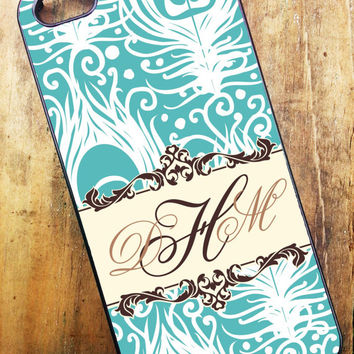 iPhone 4, iPhone 4s, iPhone 5, Samsung Galaxy S3 Cell Phone Case WITH custom Monogram