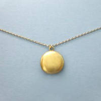 Cute, Mini, Round, Locket, Picture, Gold, Necklace