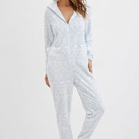 Hooded Fair Isle Plush PJ Jumpsuit