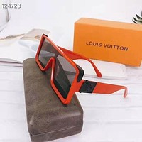 LV Louis Vuitton Hot Sale Women Fashion Personality Sun Shades Eyeglasses Glasses Sunglasses Red&Black